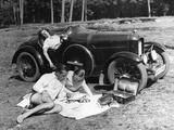 Outing with a Car , 1930 Fotoprint van Scherl Süddeutsche Zeitung Photo