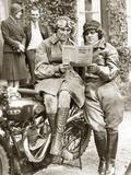 Women at a Motorcycle Rally, 1932 Photographic Print by Scherl Süddeutsche Zeitung Photo