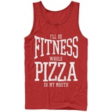 Tank Top: Fitness Whole Pizza Tank Top