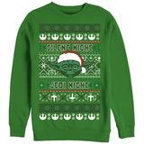 Crewneck Sweatshirt: Star Wars- Festive Jedi Knight Holiday Sweater Camisetas