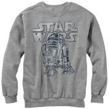 Crewneck Sweatshirt: Star Wars- R2-D2 Heroic Astro Droid Camiseta