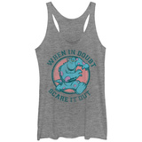 Juniors Tank Top: Disney: Monsers Inc- Scare Out Doubts Scoop Neck Womens Tank Tops