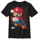 Youth: Super Marios Bros- Mario Character Card T-Shirts