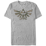 Legend Of Zelda- Camo Triforce Emblem T-skjorter