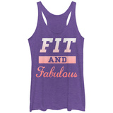 Juniors Tank Top: Fit And Fabulous Scoop Neck Womens Tank Tops