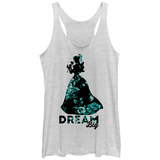Juniors Tank Top: Disney: Beauty & The Beast- Dream Big Floral Scoop Neck Womens Tank Tops