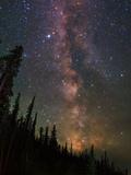 The Summer Milky Way Appears Dazzling over Yellowstone National Park Opspændt lærredstryk af Babak Tafreshi
