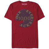 Twin Peaks- Cracked One Eyed Jacks Chip T-shirts