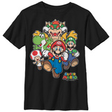 Youth: Super Marios Bros- Here Comes Bowser T-shirts