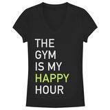 Women's: Gym Happy Hour V-Neck Damen-T-Shirts mit V-Ausschnitt