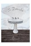 Mapped Bath Sink 1 Poster af Victoria Brown