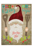 Santas Kitchen 4 Prints by Melody Hogan