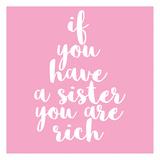 Sister Rich Affiches par Jelena Matic