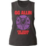 Juniors Tank Top: GG Allin- I'm Your Enemy Damestanktops