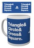 Playstation - Circle Square Cross Triangle Mug Krus