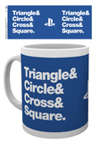 Playstation - Circle Square Cross Triangle Mug Becher