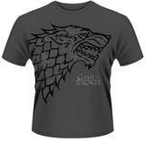 Game Of Thrones- Distressed Direwolf Sigil T-Shirts