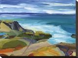 Summer Shores 6 Bedruckte aufgespannte Leinwand von Barbara Rainforth