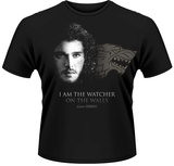 Game Of Thrones- Joh Snow Watcher On The Walls T-Shirt