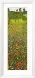 Mohnfeld Poster von Gustav Klimt