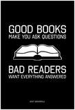 Good Books, Bad Readers アートポスター
