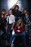Def Leppard - Group Stairs 1987 キャンバスプリント