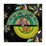 Nature Fan, Coconut Color Giclee Print by Belén Mena