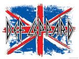 Def Leppard British Flag Posters