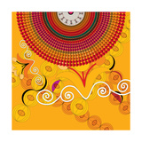 Nature Fan, Flower Yellow Color Giclee Print by Belén Mena