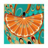 Nature Fan, Orange Color Giclee Print by Belén Mena