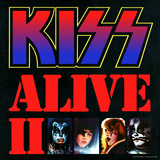 KISS - Alive II (1977) Stretched Canvas Print
