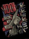 Billy Idol - Dancing With Myself Tour, 1982 Bedruckte aufgespannte Leinwand