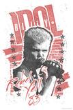 Billy Idol - Rebel Yell, 1983 Bedruckte aufgespannte Leinwand