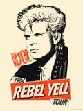 Billy Idol -Rebel Yell Tour, 1984 Bedruckte aufgespannte Leinwand