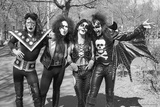 KISS - Group Early Years (Black and White) 1974 キャンバスプリント