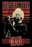 Billy Idol - Flesh For Fantasy Tour, 1984 Bedruckte aufgespannte Leinwand