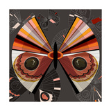 Nature Fan, Moth Color Giclee Print by Belén Mena