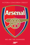 Arsenal FC - We are the Gunners Crest Kunstdrucke