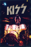 KISS - Peter Criss 1973 Stretched Canvas Print