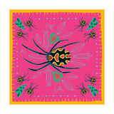 Spider, Pink Crab Spider Giclee Print by Belén Mena