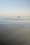 A Ship at Sunrise Along the Coast of Santiago Island, Galapagos Islands, Ecuador Impressão fotográfica por Jeff Mauritzen