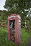 Red Telephone Booth on Kerrera Isle, Part of the Scottish Inner Hebrides Impressão fotográfica por Jeff Mauritzen