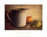 PEARS AND PITCHER Kunstdrucke von Sally Wetherby