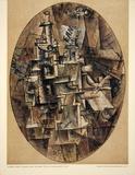 Bottle, Glass, Fork Poster von Pablo Picasso