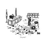 """""""Not guilty"""" - New Yorker Cartoon Reproduction giclée Premium par Drew Dernavich"""