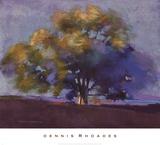 Twilight Oak III Art by Dennis Rhoades