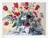 Anemones and Tulips Poster by Raoul Dufy