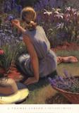 Catmint & Cornflowers Plakater af Thomas J. Larson
