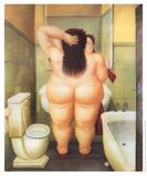 Badet Posters af Fernando Botero