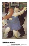 Tänzer Poster von Fernando Botero